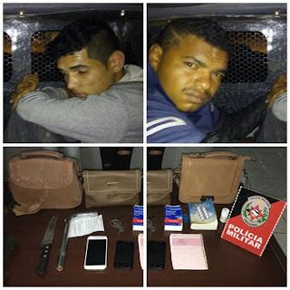 Polícia prende dupla de Jaçanã após praticarem assaltos em Cuité