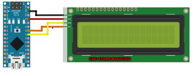 LCD I2C Arduino Nano