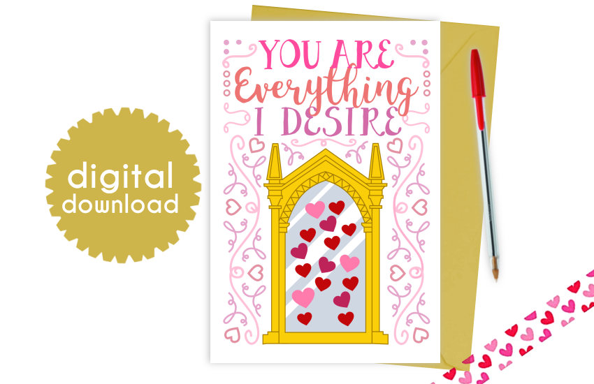 Mirror of Erised Printable Valentine's Day Card