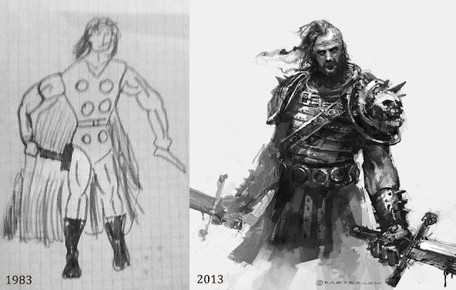 evolución de un dibujante