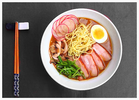 Smoked Tonkotsu Ramen with Seared Pork Belly & Arctic Panzer Wolf
