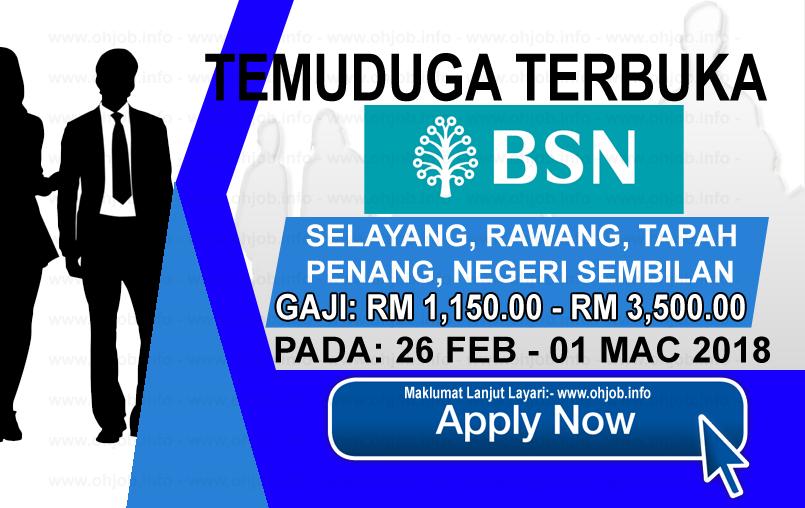 Jawatan Kerja Kosong Bank Simpanan Nasional - BSN logo www.ohjob.info februari mac 2018