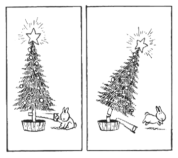 Bunny Suicides, christmas tree