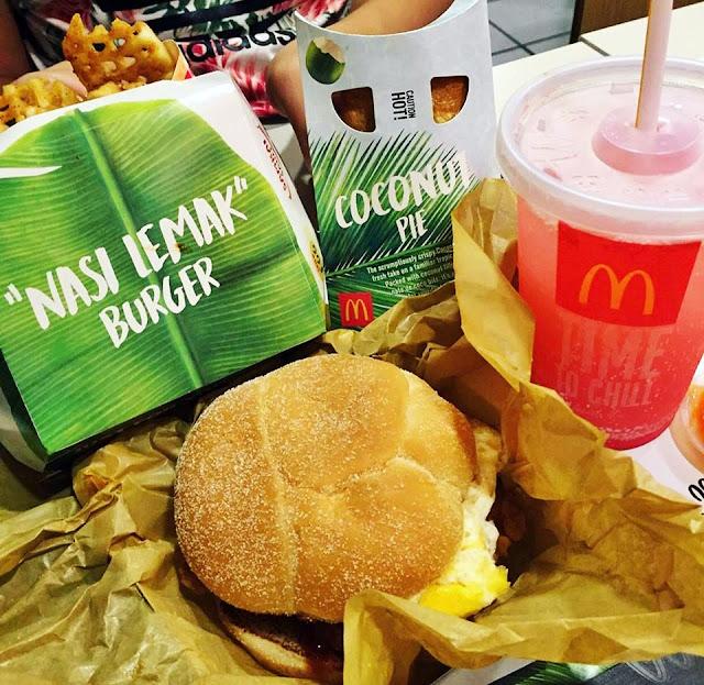 McDonald's Malaysia Nasi Lemak Burger 麦当劳椰浆饭汉堡包