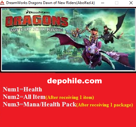 DreamWorks Dragons Dawn of New Riders İtem +3 Trainer Hilesi