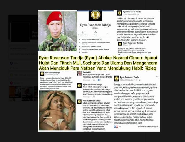 Memakai Seragam TNI, Penghina Habib Rizieq Ternyata TNI Gadungan