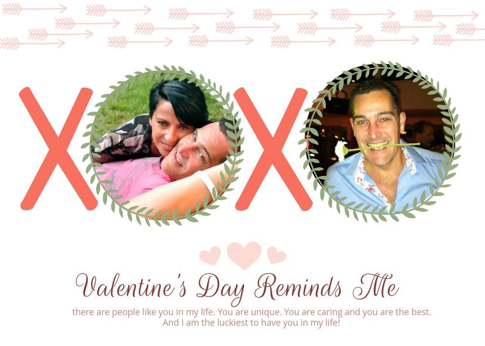 Valentijnskaart maken met foto's