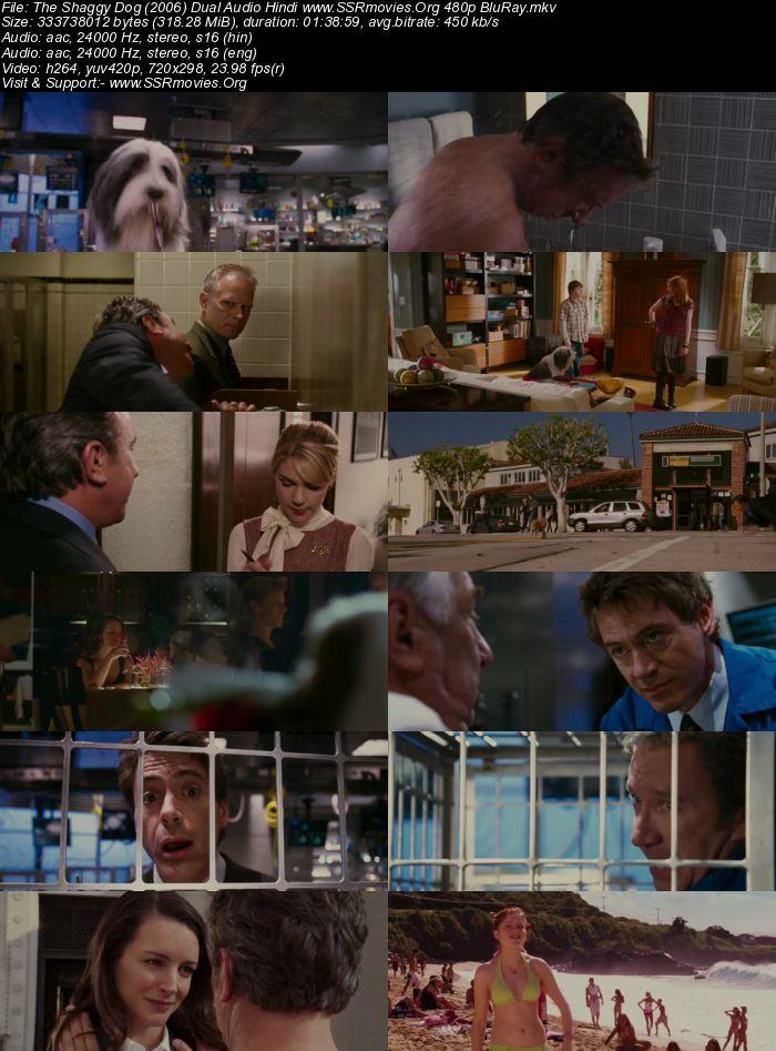 The Shaggy Dog (2006) Dual Audio Hindi 480p BluRay 300MB
