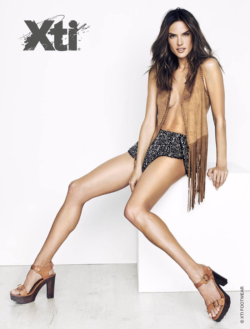 Alessandra Ambrosio sizzles for XTI Shoes' Campaign Spring/Summer 2016