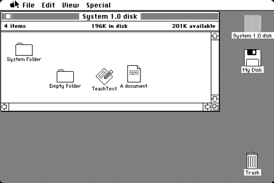 Macintosh System 1, 1984