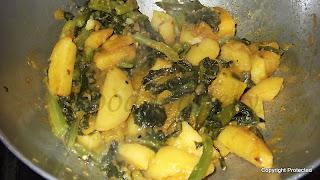 Basella curry, Saag er chorchori