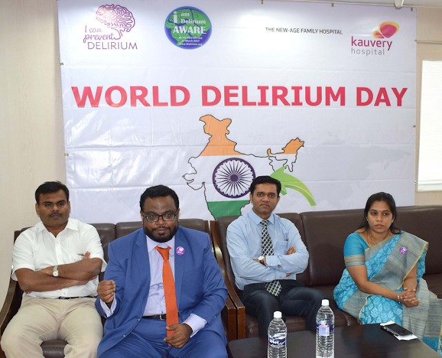 Dr. M. Lakshmipathy Ramesh, Senior Geriatric Consultant, Dr. M. Santhana Krishnan, Senior Consultant in Old Age Psychiatry from Tees Esk Wear Valleys, NHS Foundation Trust, UK,  Dr. G. Balamurali, Consultant Spine and Neurosurgeon and Dr. Yamini Kannappan, Consultant Psychiatrist, Kauvery Hospital.