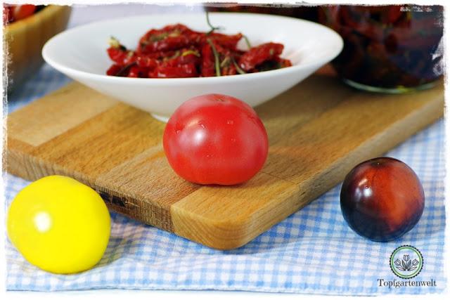 Gartenblog Topfgartenwelt Antipasti: vom Garten auf den Teller - Tomaten konservieren