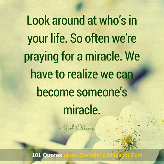 Look around at who\'s in your life. So often we\'re praying ...