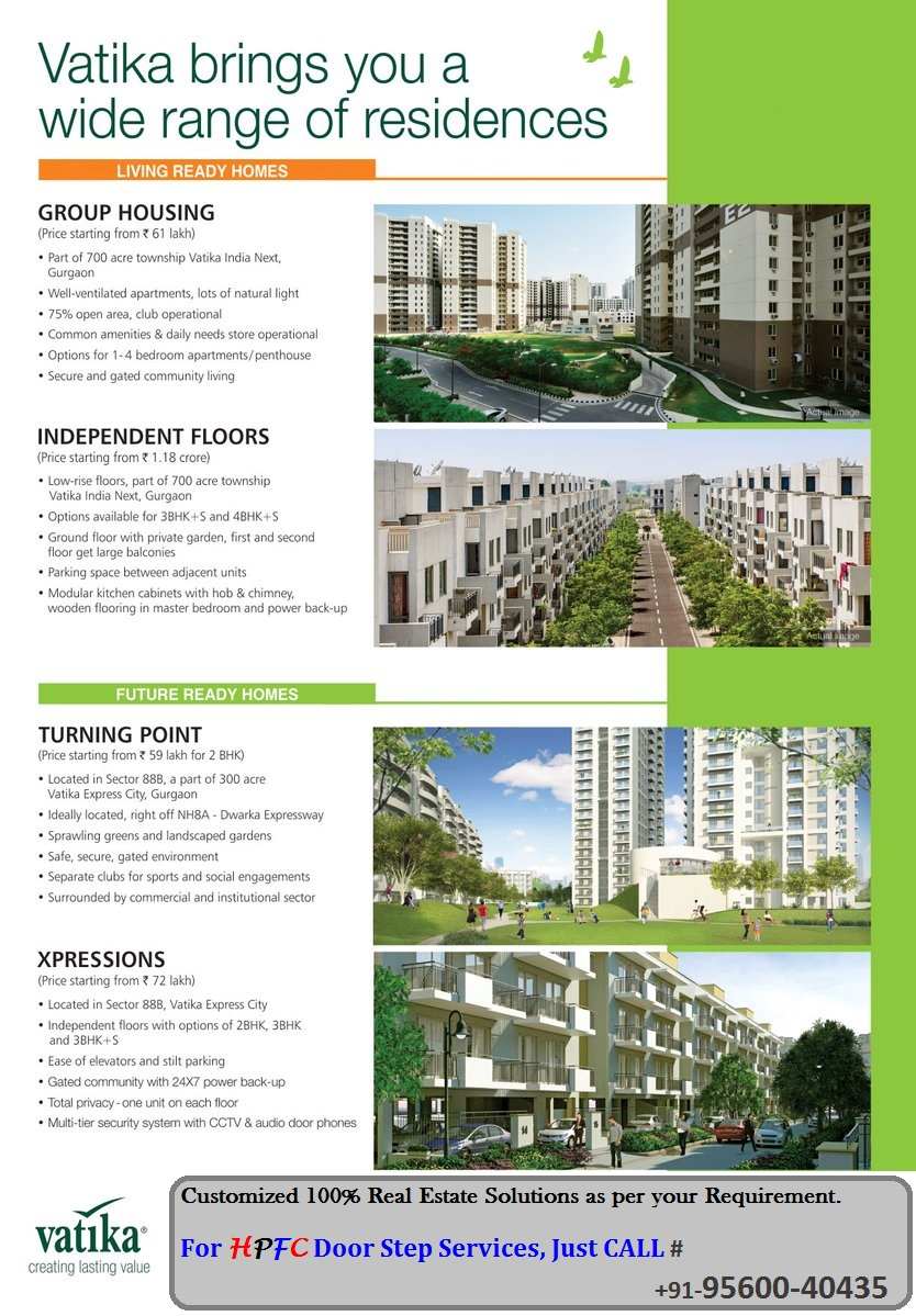 Vatika Express City Independent Floors, Group Housing Apartments Gurugram