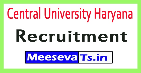 Central University Haryana CUH Recruitment