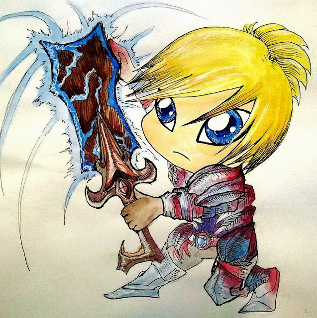 Riven chibi cartoon