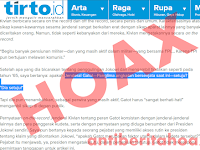 Hoax Panglima TNI Jendral Gatot Nurmantyo Setuju Makar kepada Presiden Jokowi