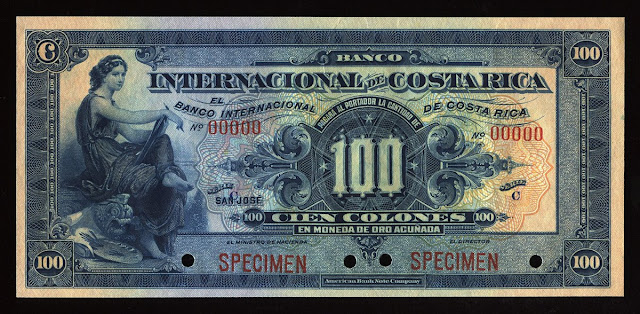 Costa Rica Banknotes 100 Colones bill