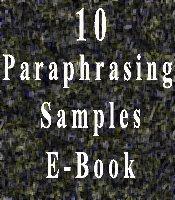 paraphrasing samples
