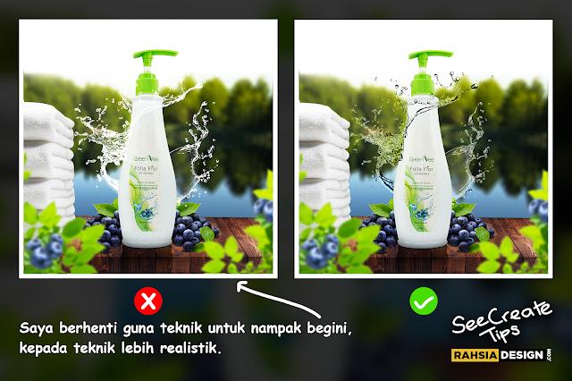 Teknik dan Step Mudah Untuk Effect Water Splash Yang Lebih Realistik