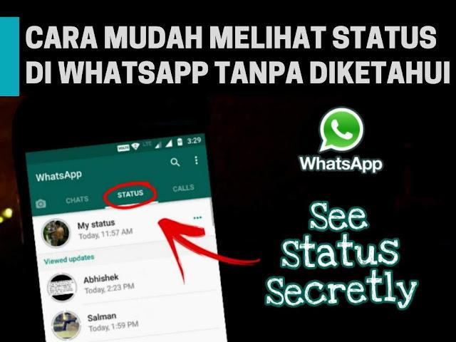 Cara Melihat Status WhatsApp Tanpa Diketahui Pembuat