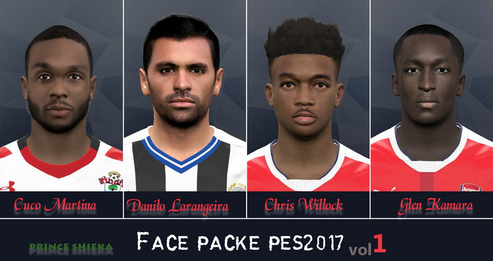 PES 2017 Face pack 1 by Prince Shieka