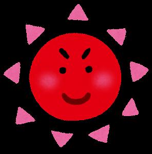 太陽のキャラクター(赤)