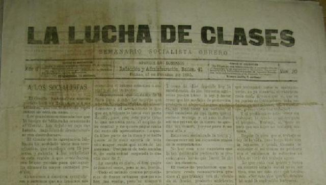 La Lucha de Clases: semanario socialista obrero