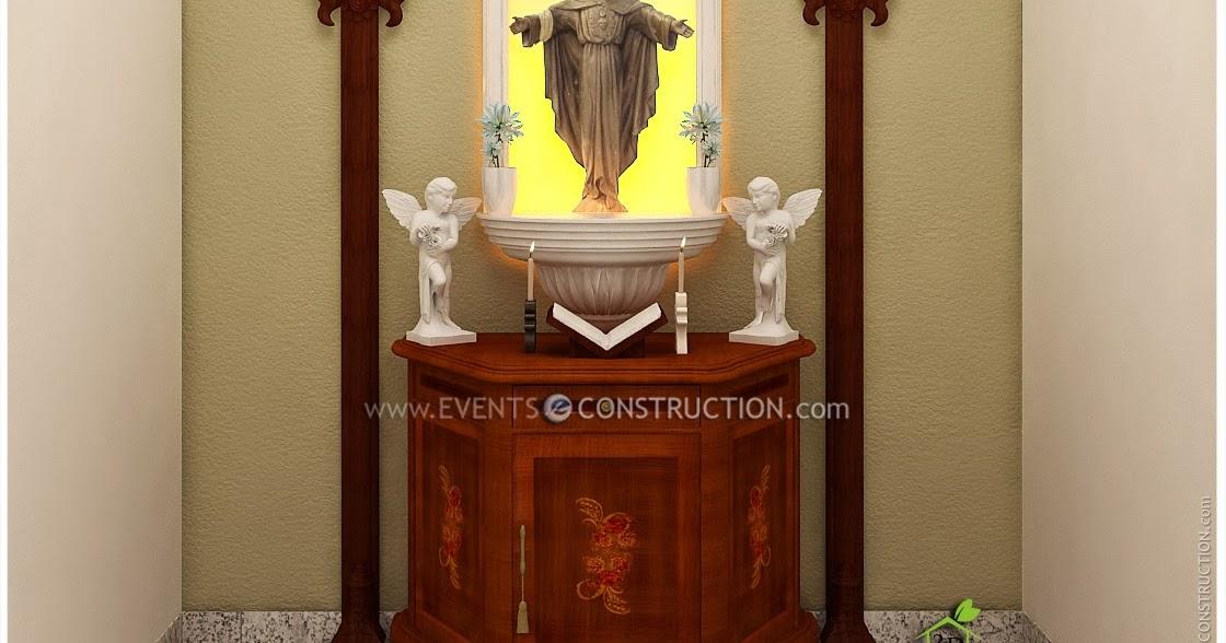 Evens Construction Pvt Ltd Prayer Area Design Roopakoode