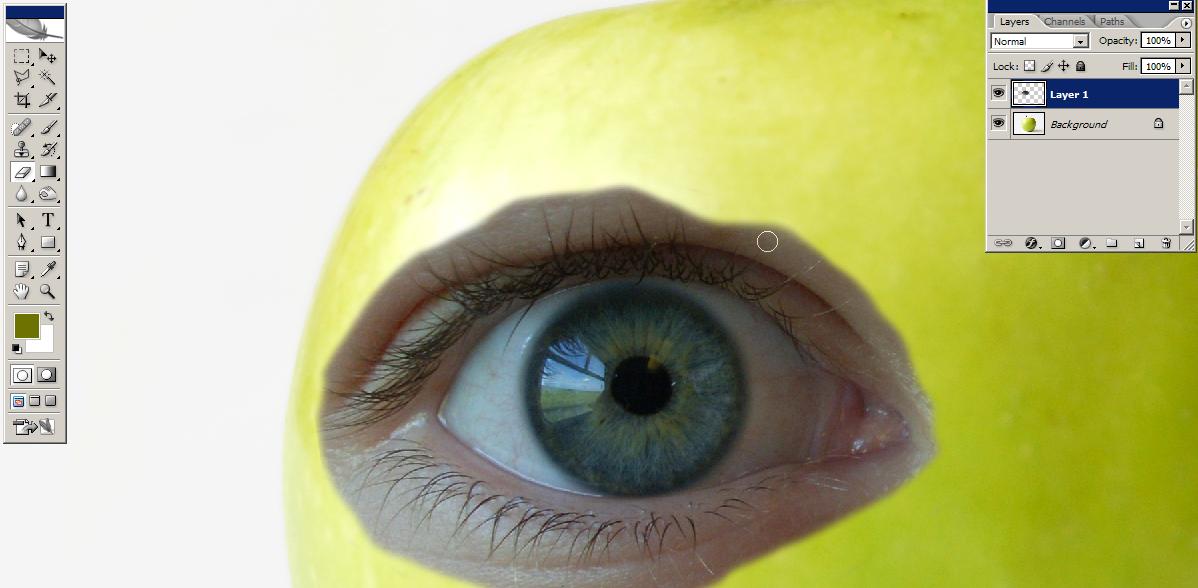 Tutorial Manipulasi Photoshop   Apple Hijau Menggemaskan Image