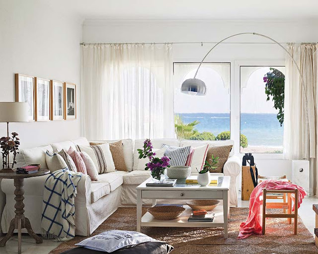 Casa de final de semana na praia. Blog Achados de Decoração