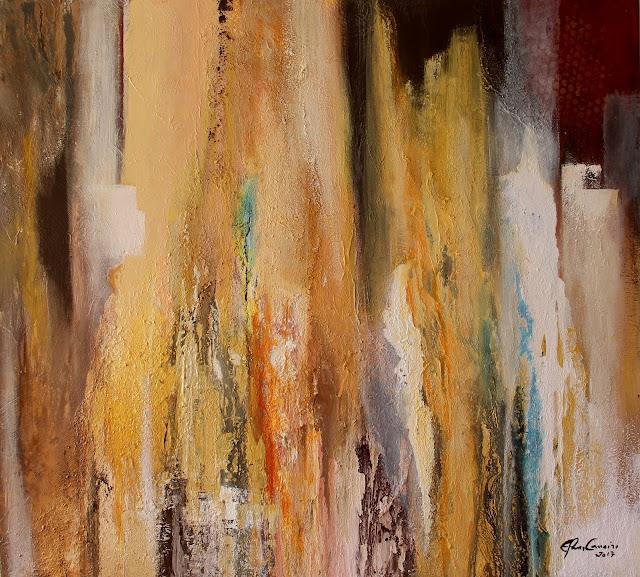 Elma Carneiro – mista s/tela em acrílica - texturas com pó de mármore-  08-2017