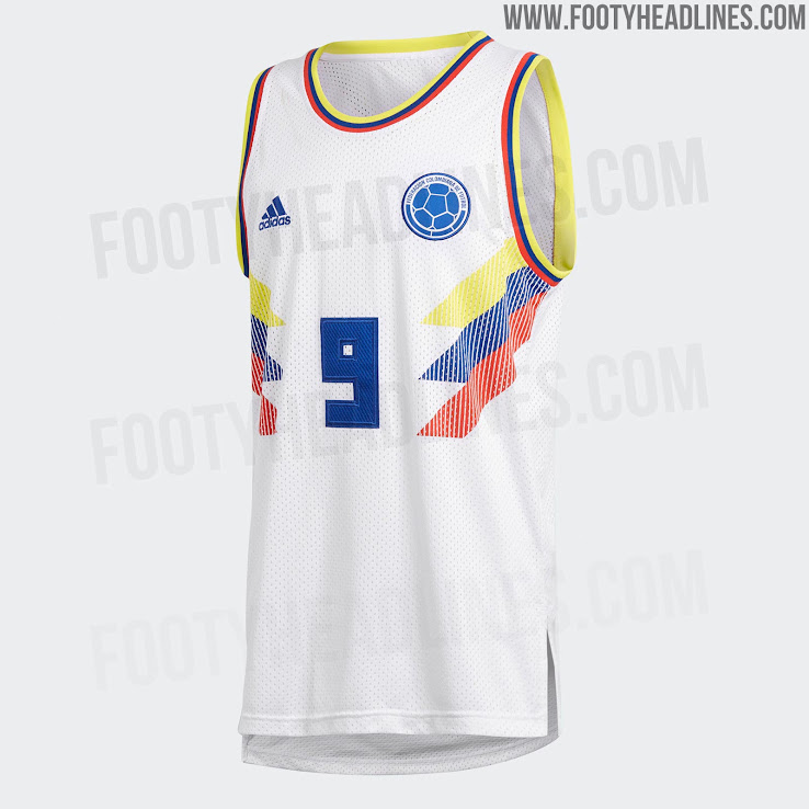 best website 7c07f b7123 OFFICIAL Pictures: Adidas Colombia 2018 World Cup Basketball ...