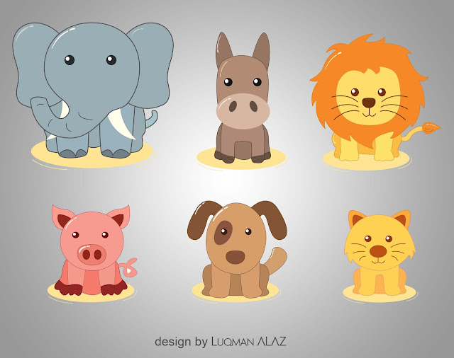 Free Download PNG Logos - A variety of Six Farm Animals in The Pack