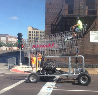 giant shopping cart vehicle funny