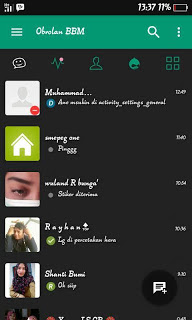BBM Fution Material Theme Green v3.0.1.25 MOD Apk BBM for Android Update