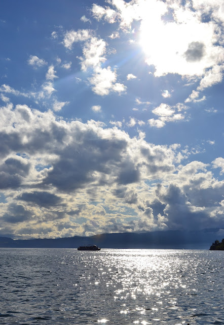 Clouds over Ohrid Lake