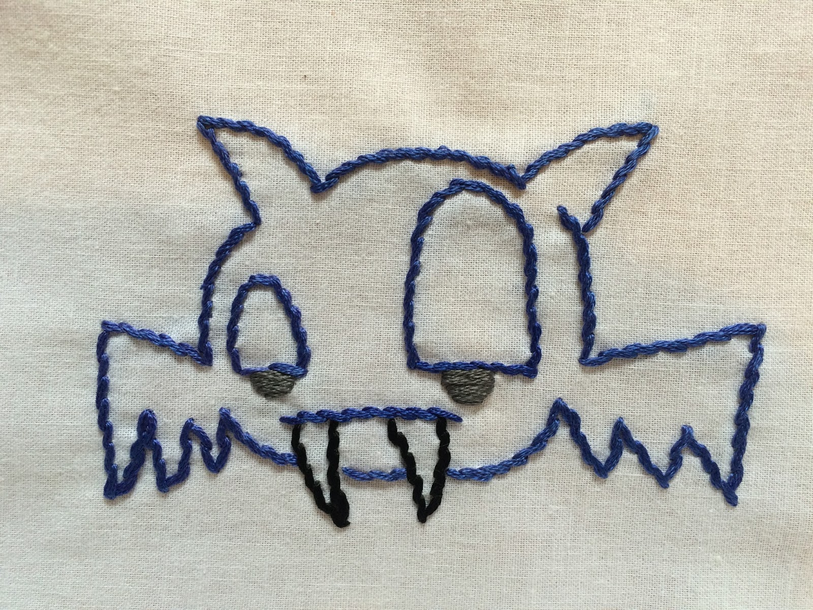 embroidered bat embroidery halloween bat embroidery