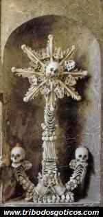 ossário,arte,ossos,caveira