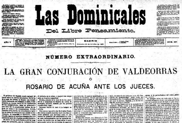 Fragmento del número extraordinario que Las Dominicales publica para denunciar la persecución