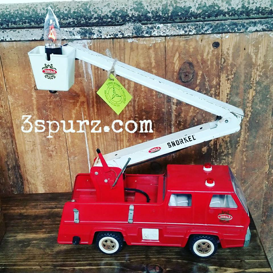 Vintage Tonka Firetruck Turned Into A Lamp.