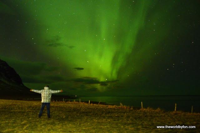 Foto postada no blog Foco no Mundo - Aurora Boreal, Islândia