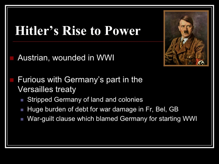 analyzing hitlers rise to power Many business leaders had welcomed hitler's rise to power due to his anti-communist and anti-trade union german big business and the rise of hitler.