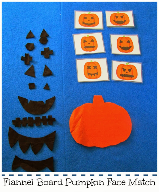 Flannel Board Pumpkin Face Match