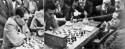 Salo Flohr pensativo en el Torneo Internacional de Ajedrez Barcelona 1935