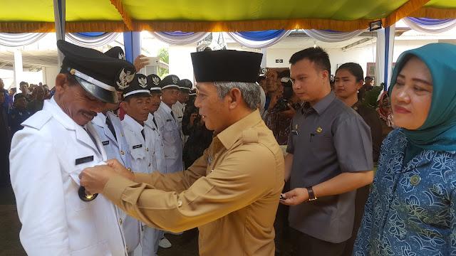 Iskandar SE Lantik 8 Kades di Kecamatan Air Sugihan
