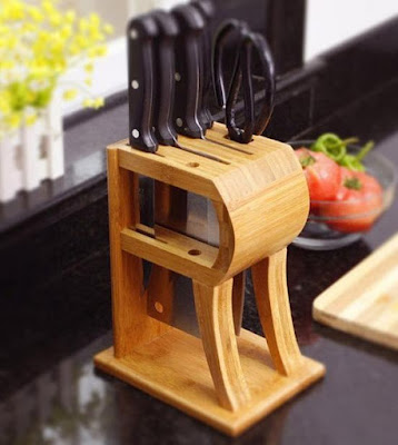 Kitchen Counter Top Knife Block