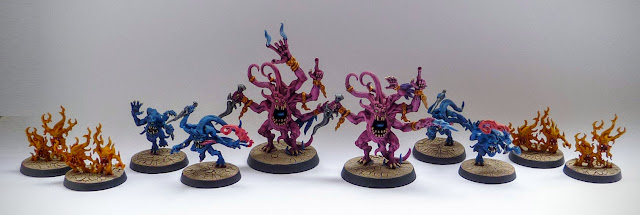 Warhammer Quest Silver Tower: Pink Horrors, Blue Horrors, Brimstone Horrors