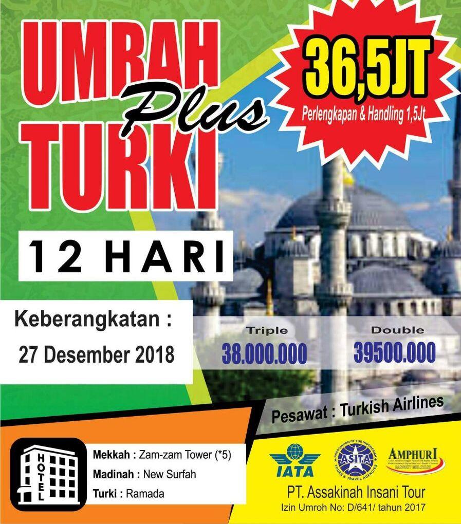 Paket Umroh Plus Turki Desember 2019